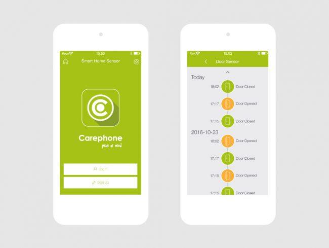 Carephone Smart Home Sensor App Design