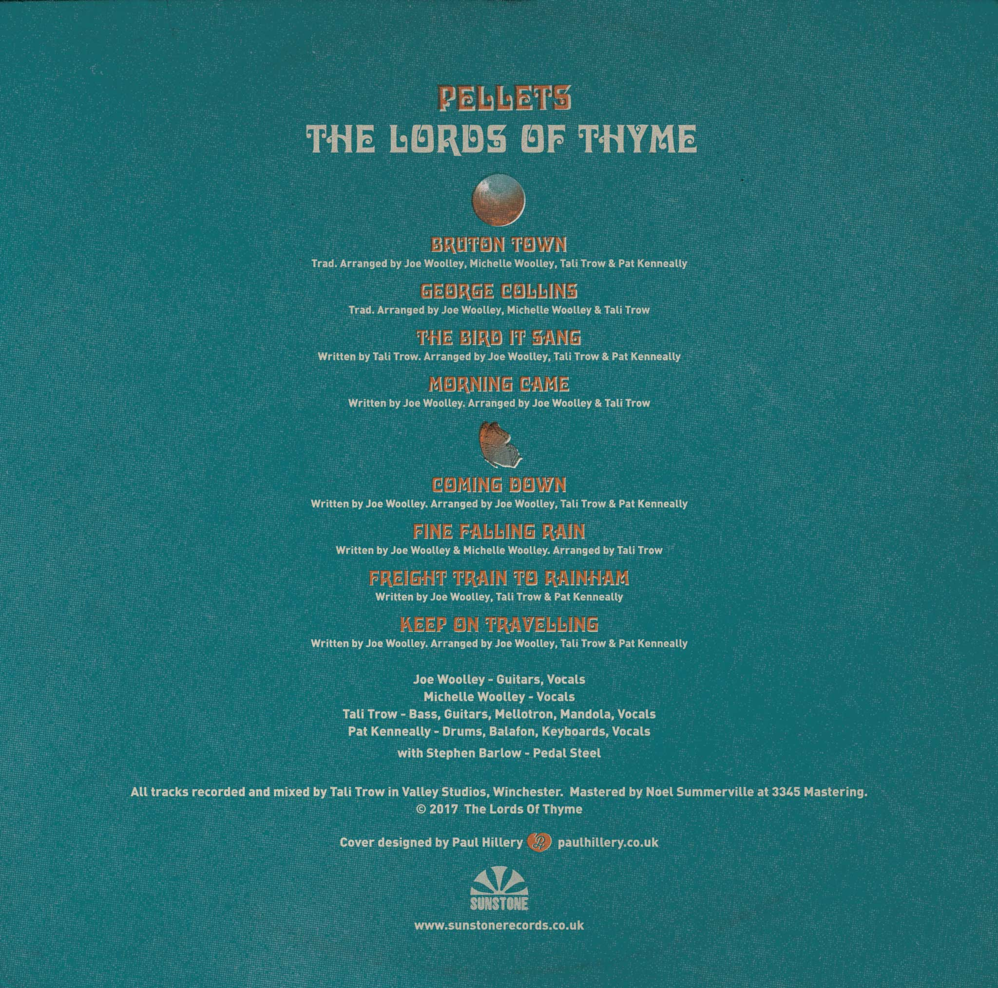 Paul Hillery designed cover to The Lords Of Thyme album Pellets
