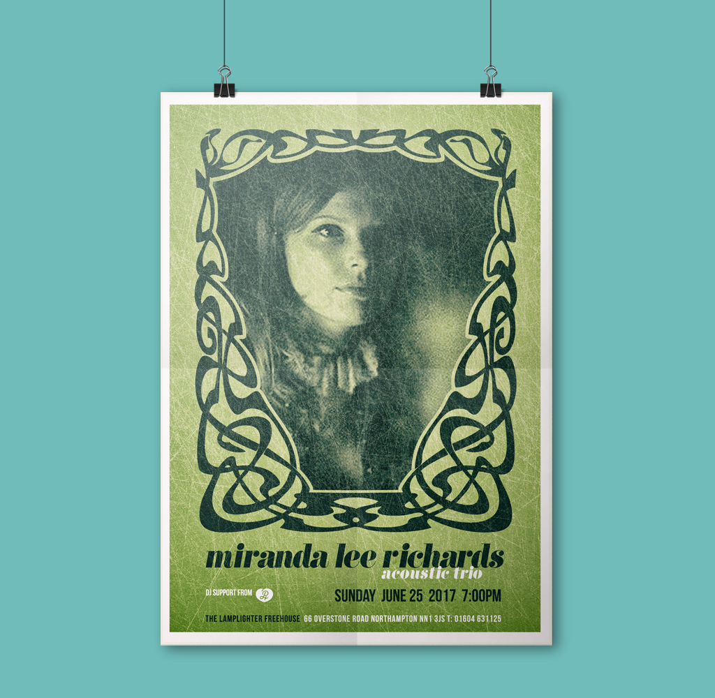 Miranda Lee Richards Poster designed by Paul Hillery
