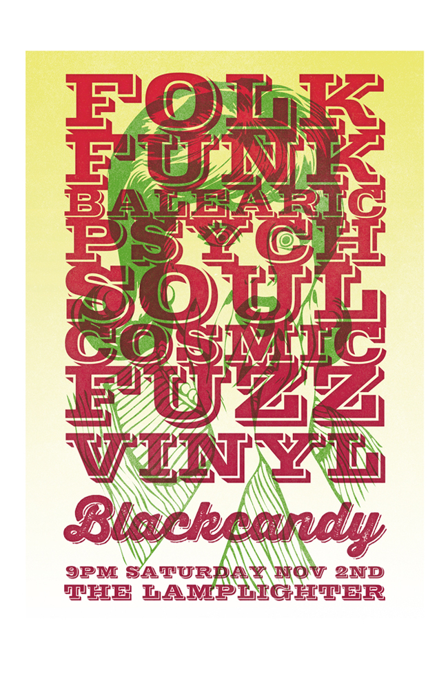 blackcandy poster by paul hillery