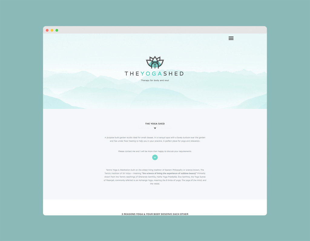 The Yoga Shed Website Designed By Paul Hillery