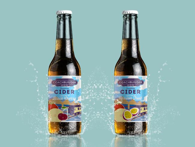 Wharf Distillery Coachbuilder Cider Label