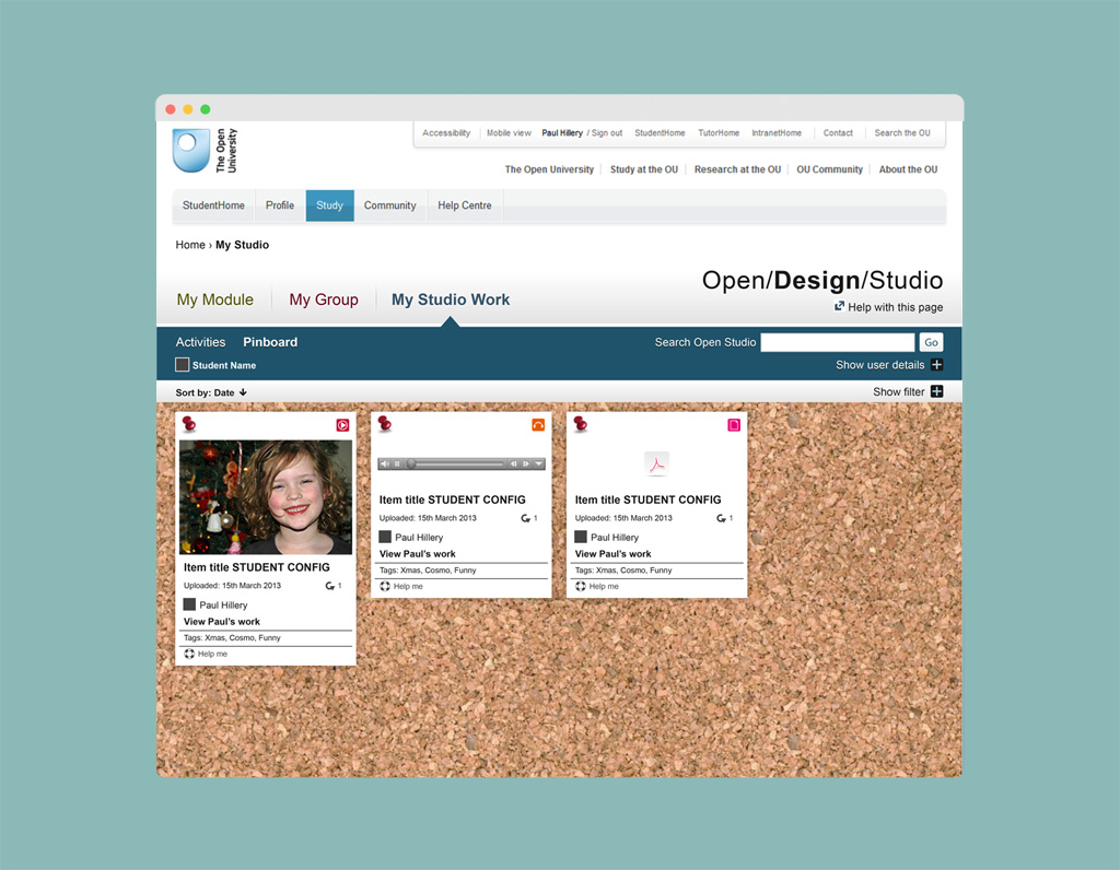 OpenStudio is an image-based, creative and collaborative web environment