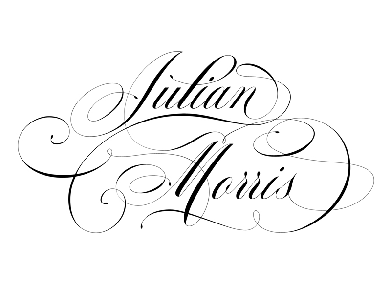 Hand finished calligraphic logotype