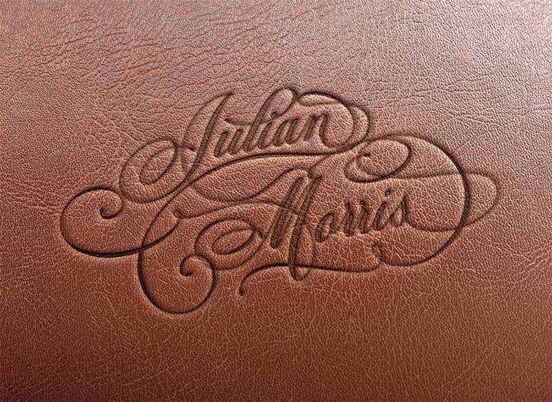 Julian Morris - Hand finished calligraphic logotype
