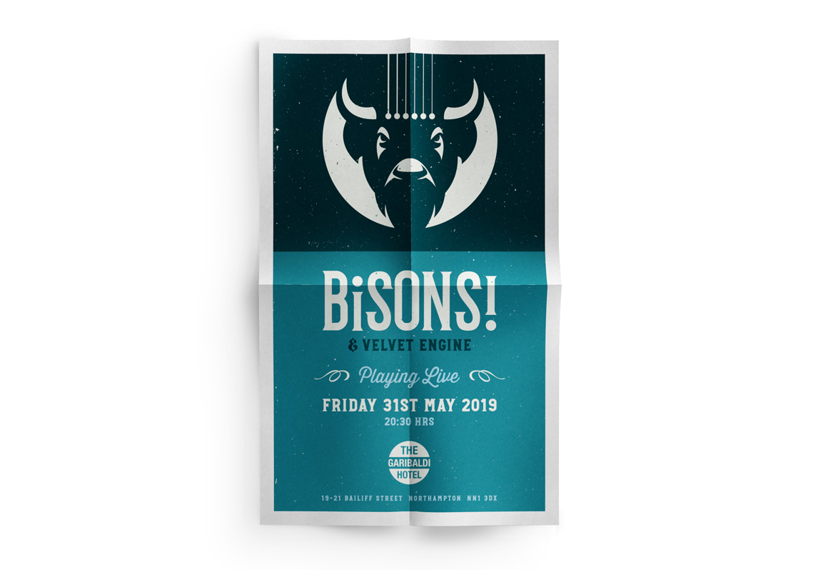 Poster for the band BiSONS!